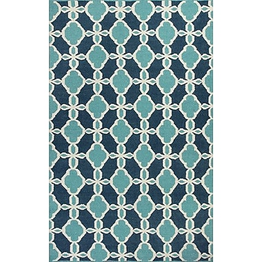 KAS Rugs Solstice Turquoise Serenity Area Rug; 8' x 10'