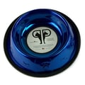 Platinum Pets Embossed Cat Bowl; Blue