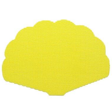 Kraftware Fishnet Shell Placemat (Set of 12); New Yellow