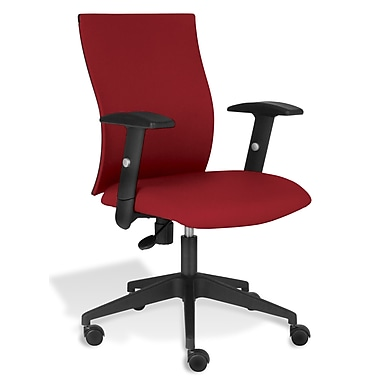 Jesper Office Kaja Office Chair with Arms; Red Fabric