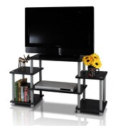 Furinno Turn 'n' Tube Entertainment Center; Black and Grey