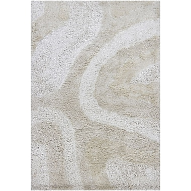 Chandra Areva Shag Light Beige Area Rug; 7'9'' x 10'6''