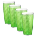 Kraftware Fishnet 24 Oz Double Wall Drinkware (Set of 4); Lime Green