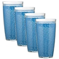 Kraftware Fishnet 24 Oz. Double Wall Insulated Tumbler (Set of 4); Process Blue