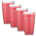 Kraftware Fishnet 24 Oz. Double Wall Insulated Tumbler (Set of 4); Flag Red