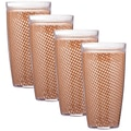 Kraftware Fishnet 24 Oz. Double Wall Insulated Tumbler (Set of 4); Bronze