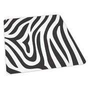 ES Robbins Zebra Design Chair Mat; 46'' x 60'' Rectangular, Crystal, .110, Carpet
