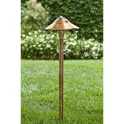 Dabmar Lighting 1 Light Walkway / Area Light; Antique Brass