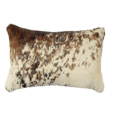Wooded River Leather Lumbar Pillow; Hide