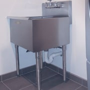 A Line by Advance Tabco 24 inch x 21 inch Single Freestanding Utility Sink by