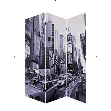 Screen Gems 72'' x 48'' New York City Screen 3 Panel Room Divider