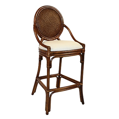 Hospitality Rattan Oyster Bay 30'' Bar Stool; Rave Brick