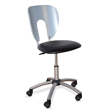Studio Designs Height Adjustable Vision Chair with Swivel; Pewter and Black