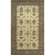 Dynamic Rugs Charisma Parson Ivory / Blue Area Rug; Runner 2'4'' x 8'