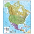 Lovell Johns North America 1:7 Laminated Wall Map