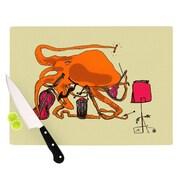 KESS InHouse Playful Octopus Cutting Board; 11.5'' H x 8.25'' W
