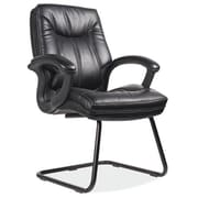 OfficeSource Whistler Sled Base Guest Chair; Black