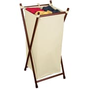 The Bag Stand Co Single Folding Hamper with Bag; Bronze