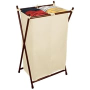 The Bag Stand Co Double Folding Hamper with Bag; Bronze