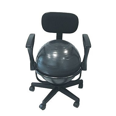 Cando Adjustable Ball Chair; With Arms