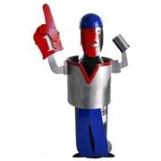 H & K SCULPTURES Sports Fan Number 1 Wine Bottle Holder