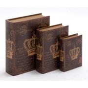 Woodland Imports 3 Piece Wooden Book Box Set