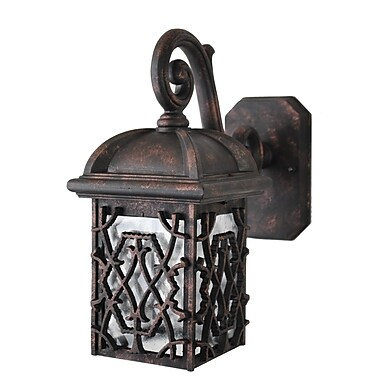 Melissa Americana 1 Light Outdoor Wall Lantern; Old Copper