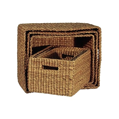 Ibolili Rectangle Basket w/ Hole Handle (Set of 6)