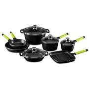 Fundix 11-Piece Cookware Set; Kiwi