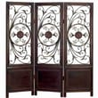 UMA Enterprises 67.13'' x 63'' Toscana Decorative Screen 3 Panel Room Divider