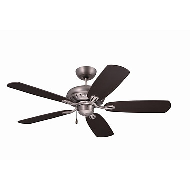 Emerson Fans 52'' Transitional Avondale 5 Blade Ceiling Fan; Antique Pewter w/Dark Mahogany Blades