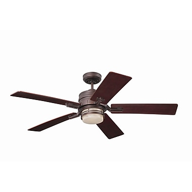 Emerson Fans 54'' Transitional Amhurst 5 Blade Ceiling Fan; Venetian Bronze with Riverwash Blades