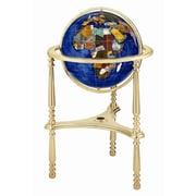 Alexander Kalifano 13'' Ambassador Caribbean Globe with Three Leg High Stand in Gold