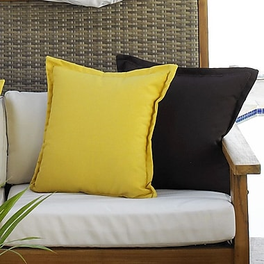 Hospitality Rattan Cushions Outdoor Throw Pillows (Set of 2); Bay Brown