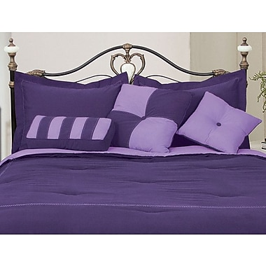 LCM Home Fashions, Inc. 3 Piece Throw Pillow Set; Purple / Lavender