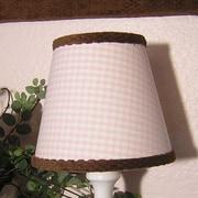 Brandee Danielle 8'' Cotton Empire Lamp Shade; Pink Gingham