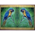 Betsy Drake Interiors Blue Macaw Placemat (Set of 4)