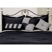 LCM Home Fashions, Inc. 3 Piece Throw Pillow Set; Black / Gray