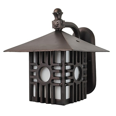 Melissa Americana 1 Light Outdoor Wall Lantern; Rusty Nail