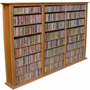 Venture Horizon VHZ Entertainment Regular Triple Multimedia Storage Rack; Oak