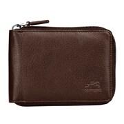 Mancini San Diego Men's Zippered Wallet; Brown
