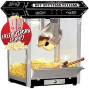 Funtime Popcorn Machines 8 oz. Countertop Sideshow Hot Oil Kettle Popcorn Machine; Black