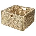 Seville Classics Woven Hyacinth Storage Cube Basket 2 Pack