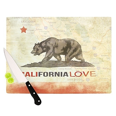 KESS InHouse Cali Love Cutting Board; 11.5'' H x 8.25'' W x 0.25'' D