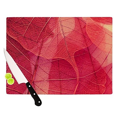 KESS InHouse Delicate Leaves Cutting Board; 11.5'' H x 15.75'' W x 0.15'' D