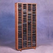 Wood Shed 400 Series 320 CD Multimedia Storage Rack; Unfinished