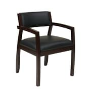 Office Star Napa Upholstered Back Eco Leather Guest Chair; Espresso