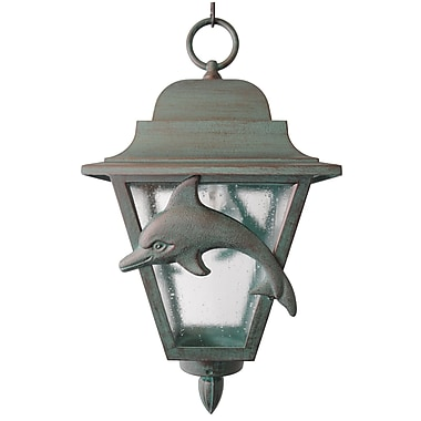 Melissa Americana 1-Light Outdoor Hanging Lantern; Old Bronze