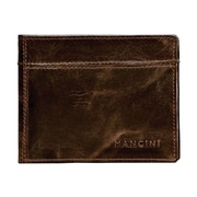 Mancini Outback Men's Double Wing Billfold; Black