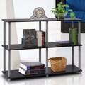 Furinno 3 Tier  Multipurpose Storage Display Rack/Shelf; Black and Grey